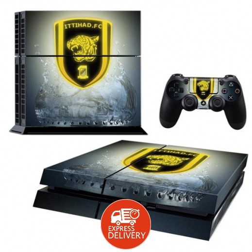 ستيكر ITTIHAD لجهاز PS4  + عدد 2 ملصق ليدة التحكم M2