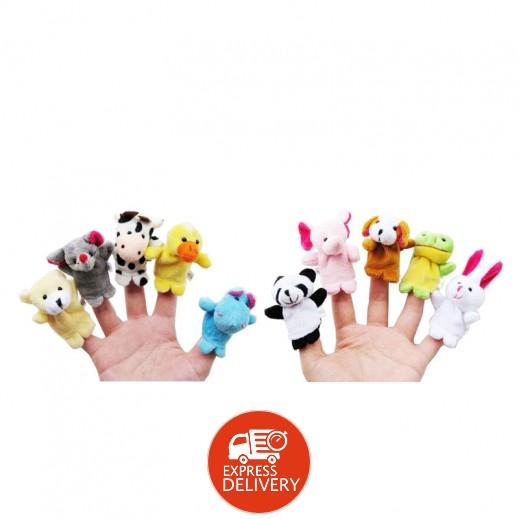 مجموعة دمى الأصابع 10 حيوانات