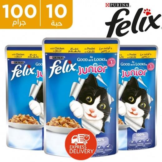 بورينا فليكس - طعام القطط تشكيلة منتقاه في جيلي 10×100 جرام