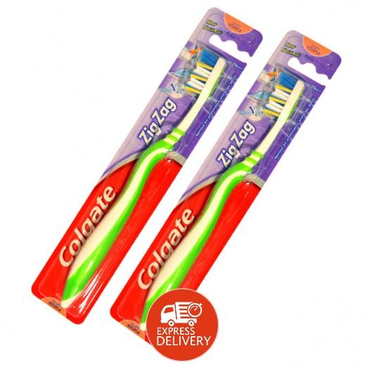 كولجيت – فرشاة لتنظيف الأسنان متعرجة ومرنة (2 حبة)
