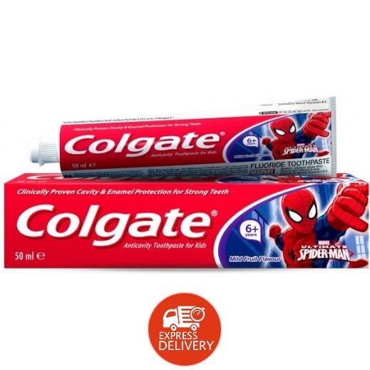 كولجيت – معجون أسنان للأطفال بنكهة الفواكه +6 سنوات (سبايدرمان) 50 مل
