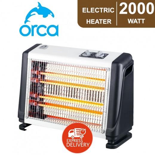أوركا – دفاية كوارتز كهربائية 2,000 واط - أبيض و أسود