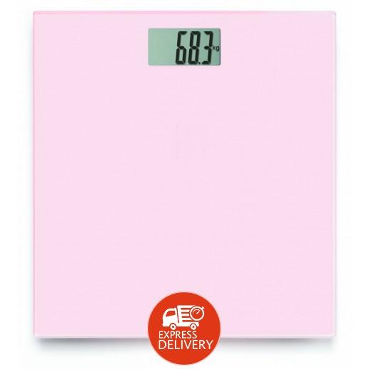 أومرون – ميزان الجسم الرقمي الإلكتروني زهري وردي – موديل HN289