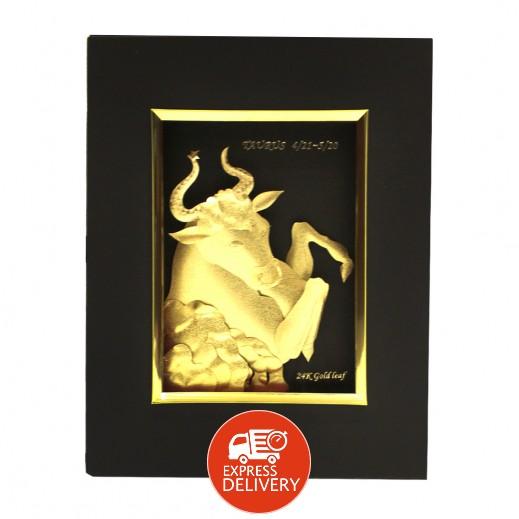 كيو بيست – رمز برج الثور ذهبي عيار 24 ثلاثي الأبعاد