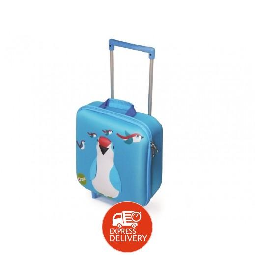 أوبس - حقيبة مدرسية ترولي بتصميم الطائر