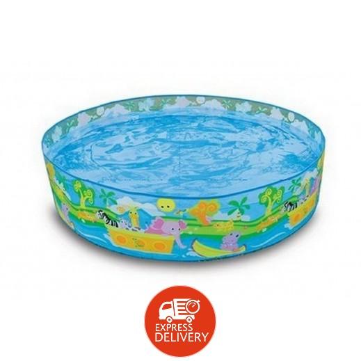 إنتكس – حمام سباحة دائري مزخرف بالحيوانات السعيدة  122 × 25 سم