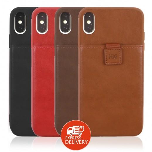 اتش دي دي – غطاء حماية مع محفظة داخلية لهاتف ايفون XS Max