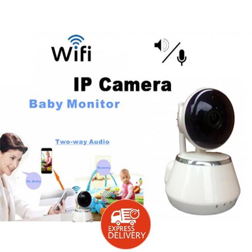 إن إتش إي – كاميرا صغيرة لمراقبة الأطفال مع سماع والتحدث إلى طفلك – أبيض