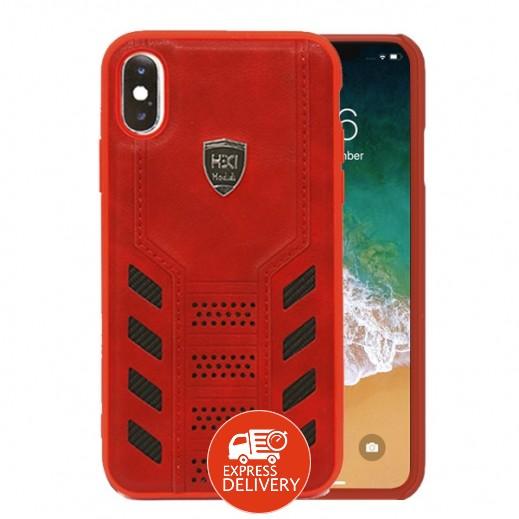 اتش دي دي – غطاء حماية خلفي لهاتف ايفون XS / X – احمر