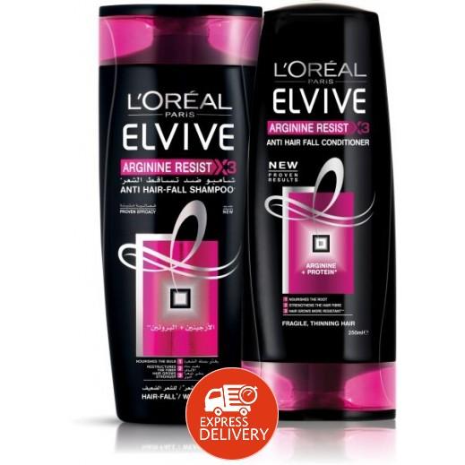 لوريال إلڤيڤ – شامبو معالجة تساقط الشعر 400 مل +بلسم 400 مل