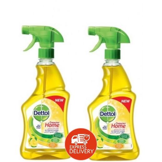 ديتول – منظف المنزل متعدد الأغراض برائحة الليمون 2 × 500 مل