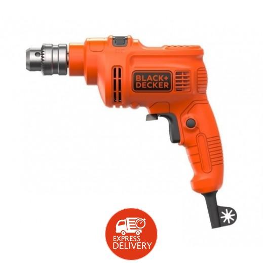 بلاك أند ديكر – مثقاب كهربائي 550 واط حديد 10 مم - برتقالي