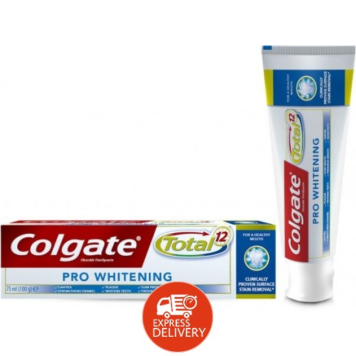 كولجيت – معجون أسنان توتال 12 برو للتبييض 75 مل