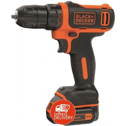 بلاك أند ديكر – مثقاب كهربائي مدمج بقوة 10.8 فولت – برتقالي