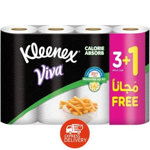 كلينكس - مناشف للمطبخ لإمتصاص السعرات الحرارية (3+1 مجاناً)