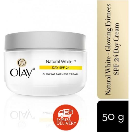 أولاي – كريم النهاري Natural White بعامل حرارة SPF24 عبوة 50 جم