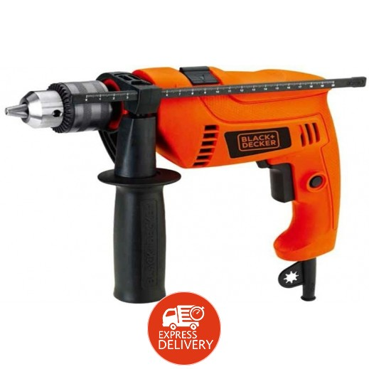 بلاك أند ديكر – مثقاب ومطرقة كهربائي دوار 13 مم بقوة 650 واط – برتقالي