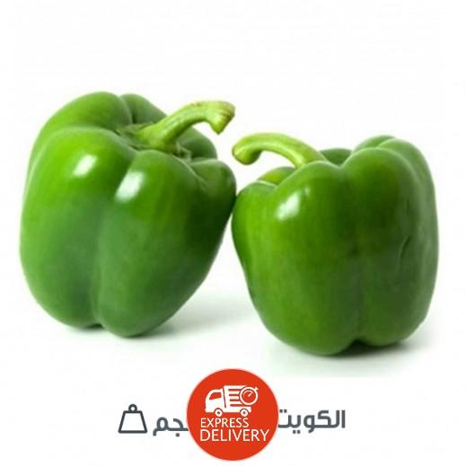 فلفل حلو أخضر كويتي (1 كجم تقريباً) عبوة