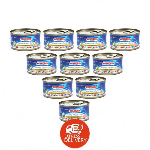 أمريكانا - لحم التونة الأبيض في زيت الزيتون 185 جم (12 حبة) - أسعار الجملة