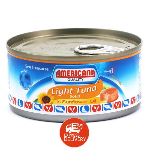 أمريكانا - لحم التونة الخفيف 185 جم