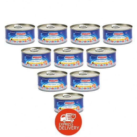 أمريكانا - لحم التونة الأبيض في زيت دوار الشمس 185 جم (12 حبة) - أسعار الجملة
