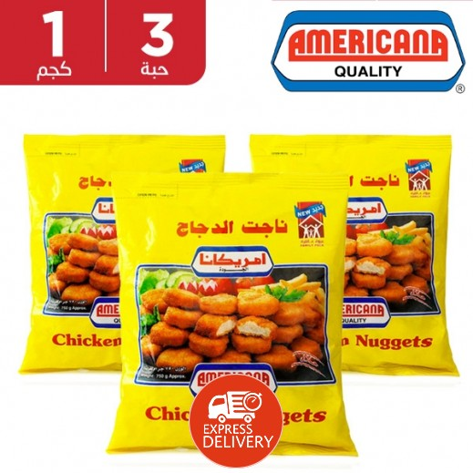 Americana Chicken Nuggets 3 x 1 kg
