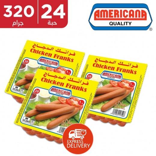 Americana Chicken Franks 24 x 340 g