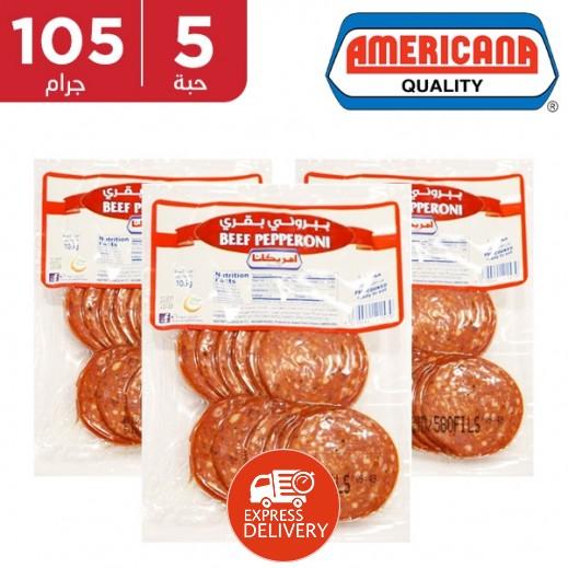 أمريكانا - شرائح الببروني 5 × 105 جم