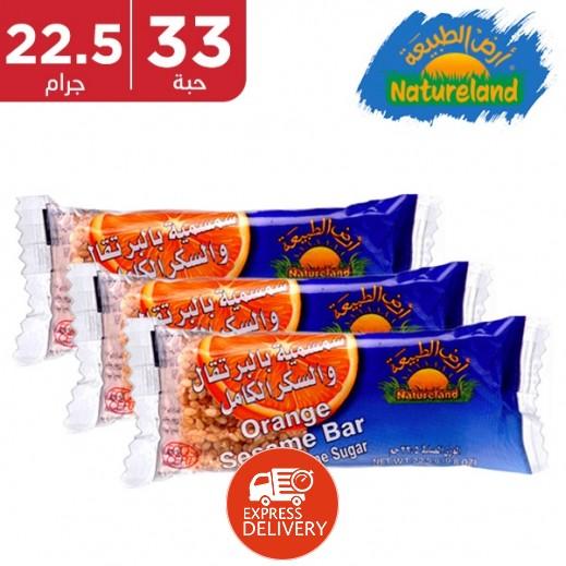 Natureland Orange Sesame Bar 32 x 22.5g