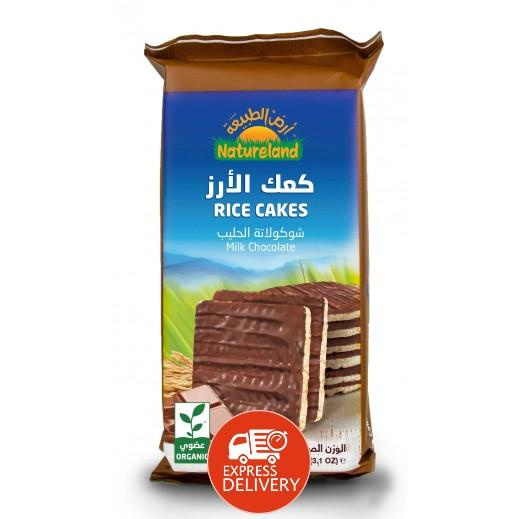 أرض الطبيعة  – كعك الأرز بالشوكولاته الحليب 90 جم
