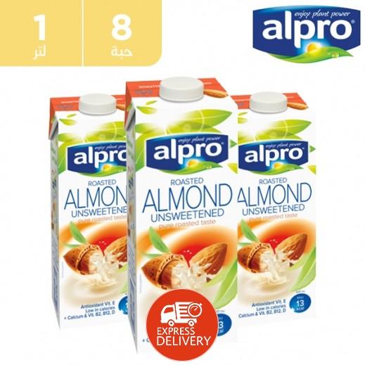 ألبرو – حليب اللوز غير المحلى 8 × 1 لتر