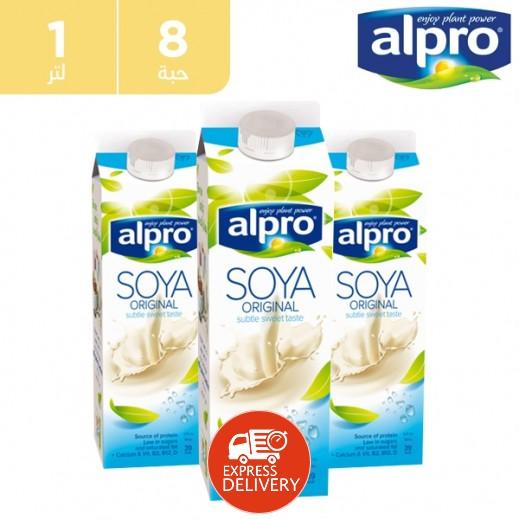 ألبرو – حليب الصويا الأصلي 8 × 1 لتر