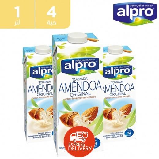 ألبرو – مشروب Alpro صويا فانيلا  4 × 1 لتر