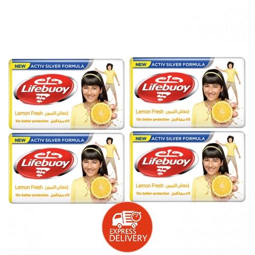 لايف بوي - صابون انتعاش الليمون 4×125 جم
