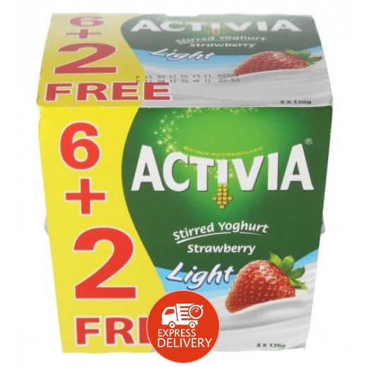 أكتيفيا – روب لايت بالفراولة 120 جرام (6+2 مجانا)