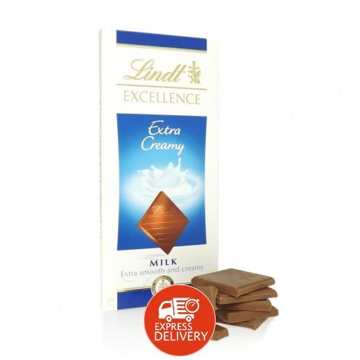 """لنت – شوكولاتة """"إكسلنس"""" إكسترا كريمة حليب 100جم"""