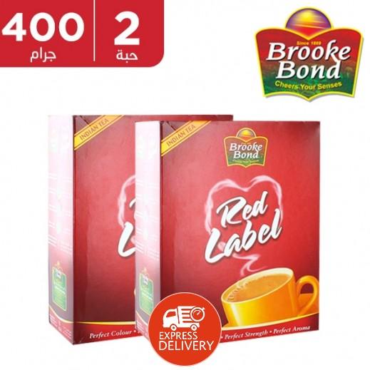 بروك بوند - شاي ريد ليبل فلت 2 × 400 جم