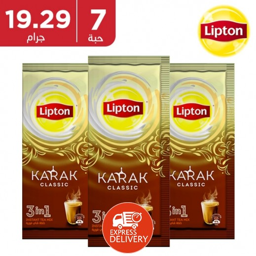ليبتون - شاي كرك 3 × 1 كلاسيك 7 × 19.29 جم