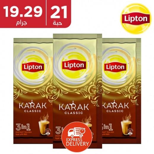 ليبتون - شاي كرك 3 × 1 كلاسيك 21 × 19.29 جم