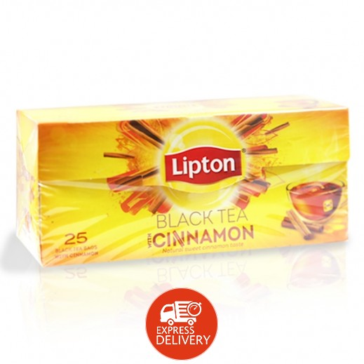 ليبتون - شاي العلامة الصفراء بنكهة الدارسين 25 كيس