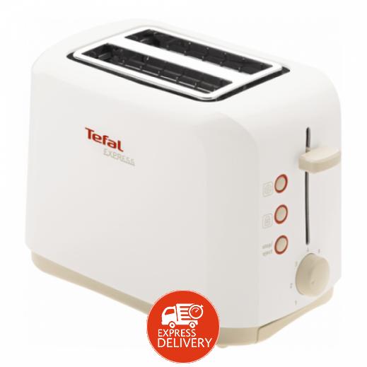 تيفال - محمصة الخبز الكهربائية اكسبرس 2 شريحة 850 واط – أبيض