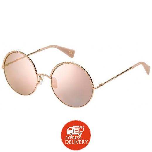 مارك جاكوبس - نظارة شمسية للسيدات ذهبي وردي 57 مم
