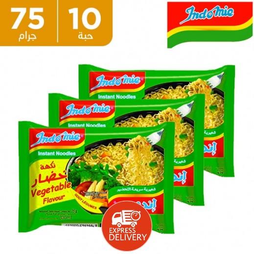 إندومي – شعيرية سريعة التحضير بنكهة الخضروات 75 جم × 10 حبة