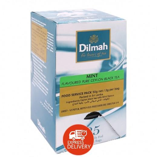 دلما – شاي أسود سيلاني نقي مع نكهة النعناع 25 كيس