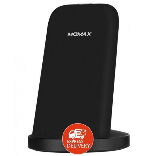 موماكس – قاعدة شحن لاسلكية سريعة للهواتف الذكية – أسود