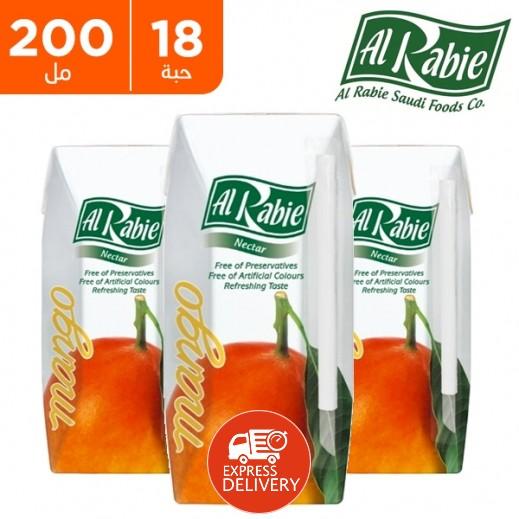 الربيع - عصير المانجو نكتار 200 مل (18 حبة)