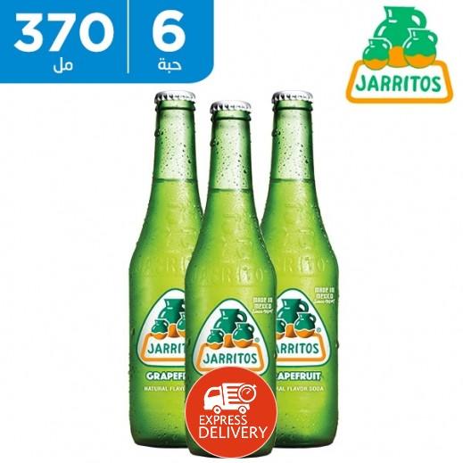 جاريتوس - مشورب غازي بطعم الجريب فروت الطبيعي 6 × 370 مل