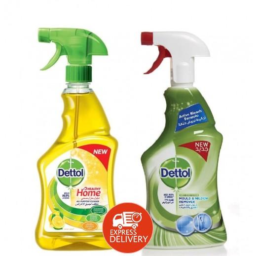 ديتول – منظف الحمامات برائحة الليمون 2×500 مل