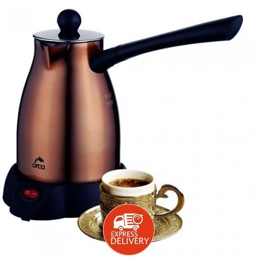 اوركا – محضرة القهوة التركي 300 مل 1,000 واط – نحاسي