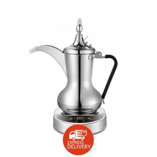 أوركا – دلة القهوة العربية 1000واط سعة 1 لتر، لون فضى